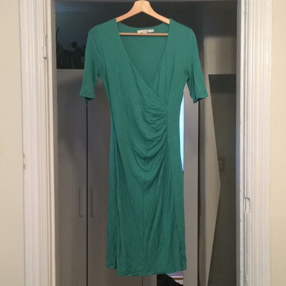 79afbddea66 Boden Dresses   Skirts - Boden Green Faux Wrap Ruched Dress